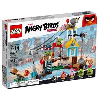 LEGO ANGRY BIRDS Приключения в града на Прасетата Pig City Teardown - 75824