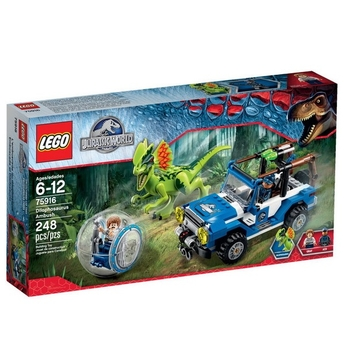 LEGO Jurassic World Засада на Дилофозавър Dilophosaurus Ambush - 75916