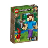 LEGO Minecraft Steve BigFig с папагал, Steve BigFig with Parrot, 21148